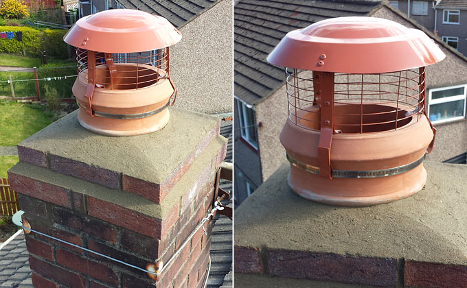 Chimney Pot & Bird Guard Installation