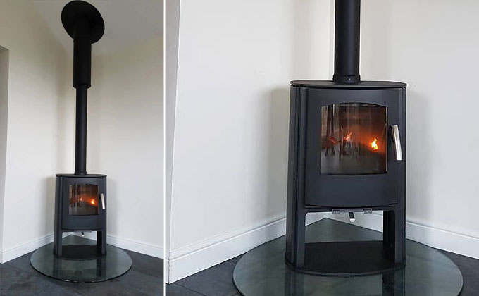 Contemporary Stove Installation