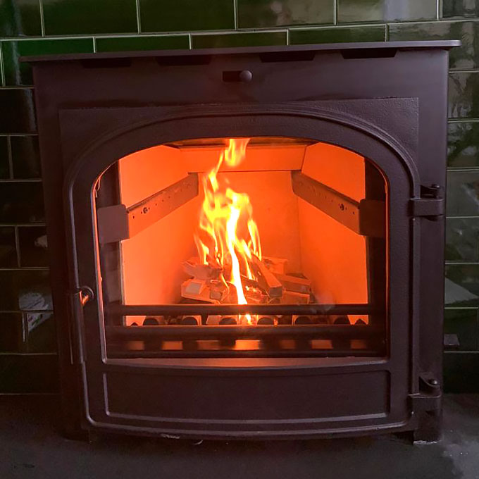 Inset Hunter Chevin Stove Installation
